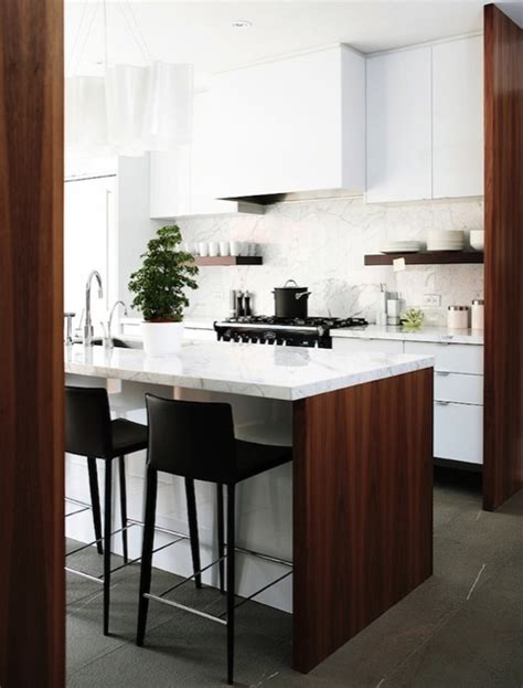 two tone modern kitchen with glossy white lacquer kitchen