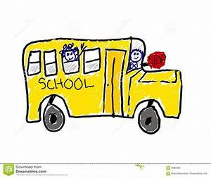 Child's Drawing Of School Bus Stock Photos - Image: 6080563