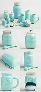 best 25 aqua decor ideas on pinterest aqua bedrooms With best brand of paint for kitchen cabinets with mason jar wall art