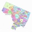 Bergen County, New Jersey Zip Code Boundary Map