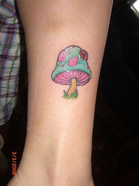 color ink simple mushroom tattoo  arm ratatatt