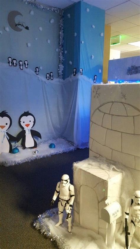 igloo entrance protected  storm troppers penguins