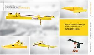 Slx Type Manual Single Beam Underhung Crane