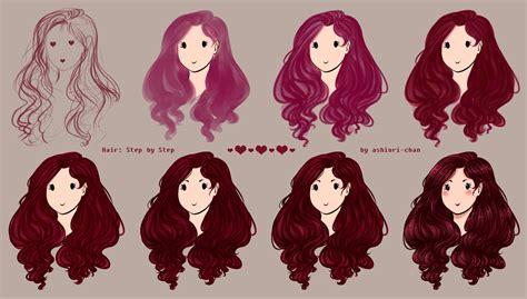 hair step  step  ashiori chan  deviantart
