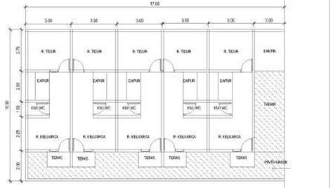 gambar contoh desain rumah petak druckerzubehr  blog