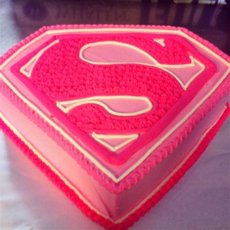 supergirl freehand design  whipped icing cake