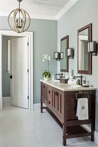 Gray wisp transitional bathroom benjamin moore gray for Kitchen cabinet trends 2018 combined with 3 pc canvas wall art set
