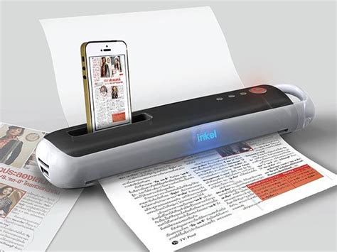 printers that work with iphone smart magic wand is a concept portable printer and scanner