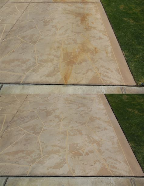 rust stains on concrete patio rust on pool deck coatings front 9 restoration inc