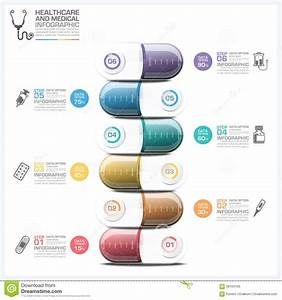 Healthcare And Medical Infographic With Pill Capsule Step