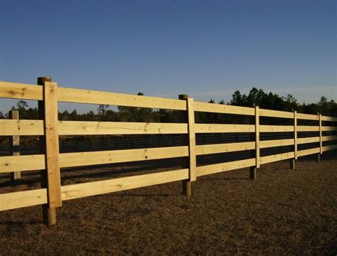 Wood Horse Fence Materials