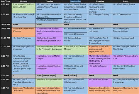 onboarding template onboarding schedule template planner template free