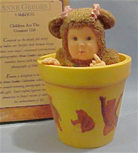 cuddly collectibles collectible geddes flower pot babies figurines