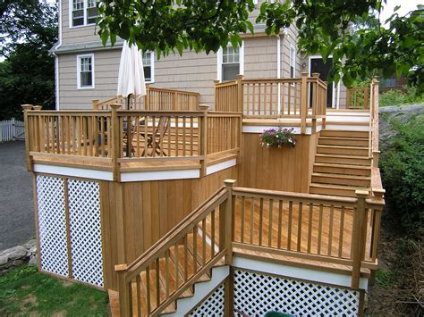 Unique Deck Skirting Ideas by Cos Cob Wood Deck Completed Custom Decks Of