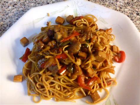 recettes de cuisine au wok wok de nouilles chinoises au tofu recette de wok de