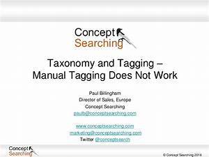 Taxonomy And Tagging  U2013 Manual Tagging Does Not Work