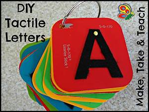 Diy tactile letters make take teach for Tactile letters