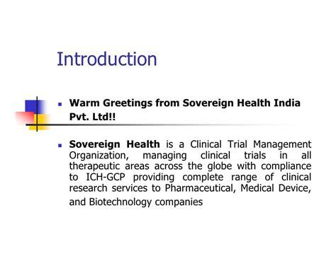 Sovereign Health Profile
