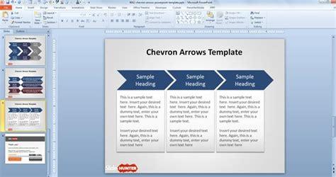 chevron arrows template  powerpoint