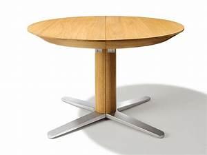Table Ronde Extensible Blanche : table ronde en bois extensible table salle a manger blanche maisonjoffrois ~ Teatrodelosmanantiales.com Idées de Décoration
