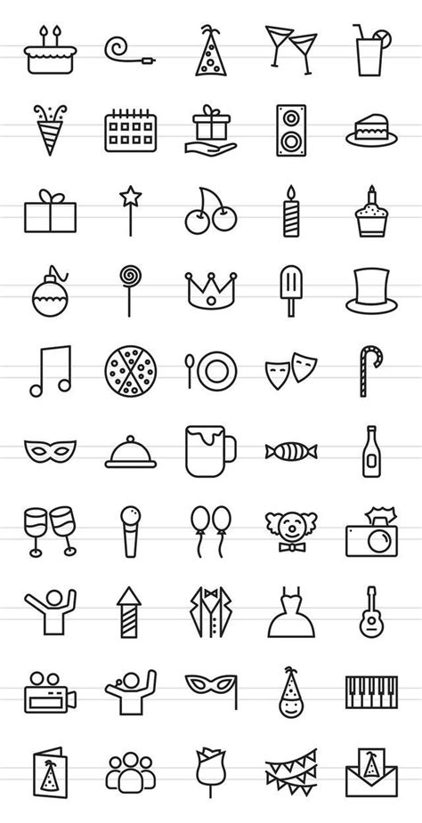 pin  brii  stik mini drawings bullet journal ideas pages birthday icon