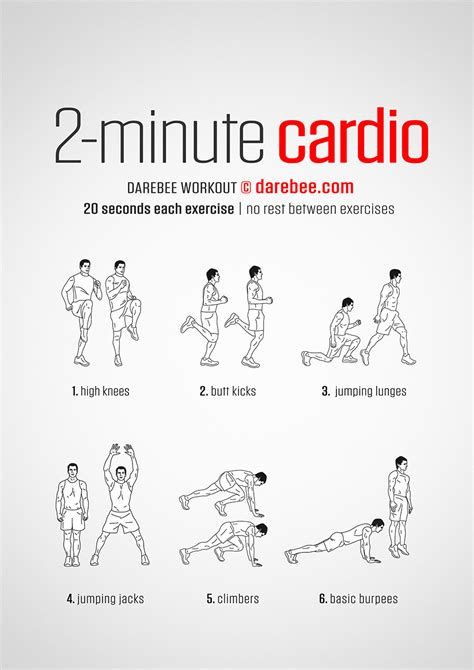 Bedroom Cardio Workout by 2 Minute Cardio Workout
