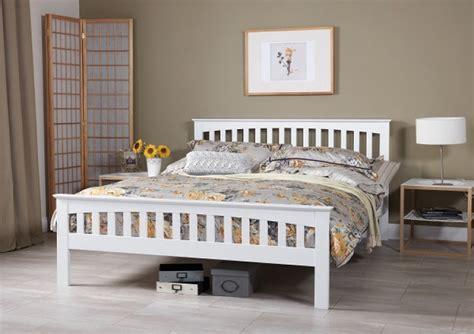 serene amelia ft kingsize white wooden bed frame