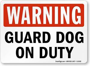 Guard Dog Signs | Free PDF Downloads