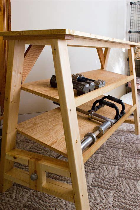 dumbbell rack ideas  pinterest diy dumbbell weight rack  gym rack