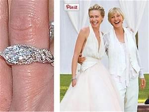 ellen degeneres portia de rossi wedding rings www With ellen wedding ring