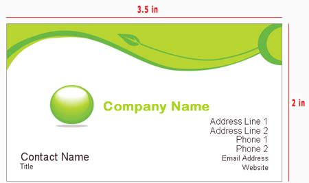 business card size   aspects   good business card