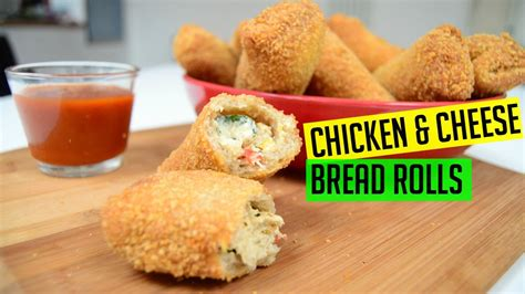 bread rolls  chicken  cheese indian cooking