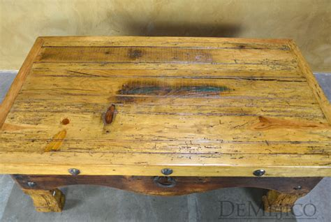 antique bar for mesa colonial cajon wood coffee table demejico 4073