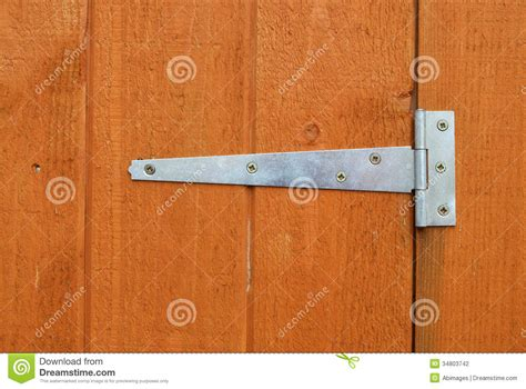 shed door hinge stock photo image  closeup grain
