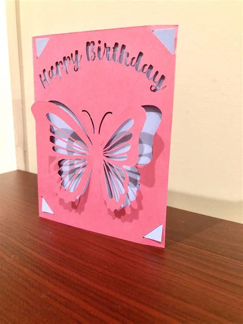 pin  cricut birthday card svg
