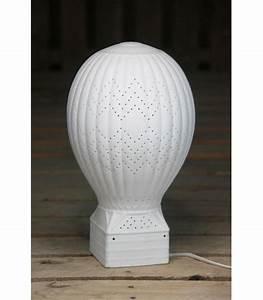 Lampe Veilleuse Enfant : lampe enfant veilleuse montgolfi re en c ramique blanche ~ Teatrodelosmanantiales.com Idées de Décoration
