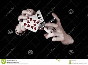 Hands Holding A Lot Of Play Cards Royalty Free Stock ...