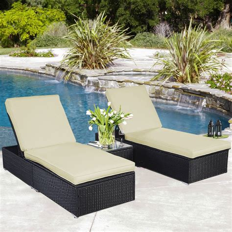 rattan chaise lounge outdoor convenience boutique outdoor chaise lounge chair patio