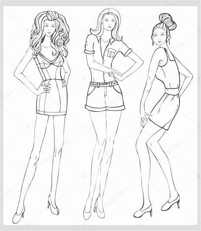 Hand Illustration Vector Drawn Mannequin Drawing Coloring