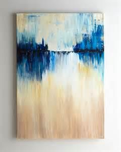 Abstract Canvas Wall Art Blues
