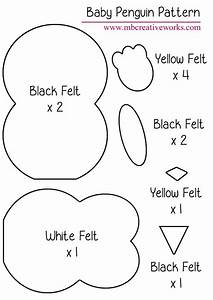 felt penguin pattern pinteres With felt shape templates