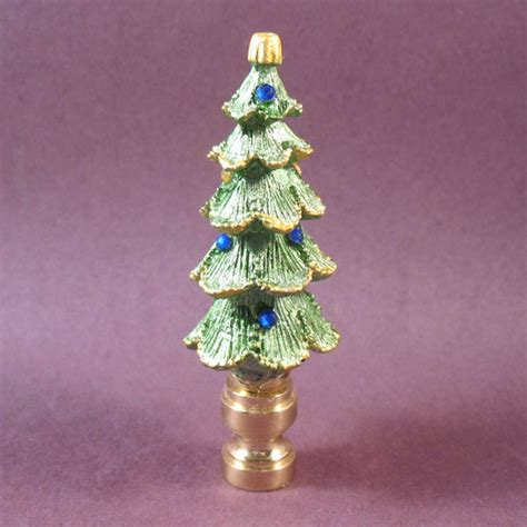 l finial evergreen christmas tree 3 1 4 quot tall overall