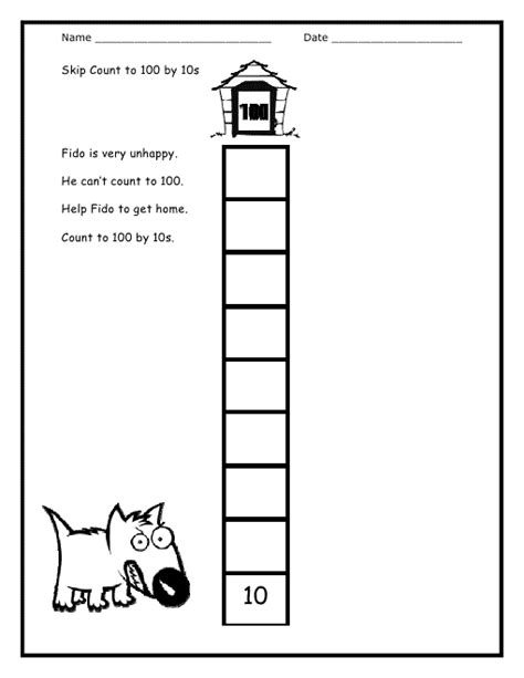 Count By 10s Worksheet  Kiddo Shelter