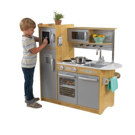 walmart play kitchen kidkraft uptown wooden play kitchen walmart