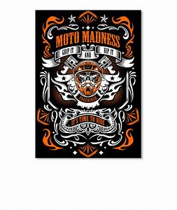 Moto Madness Stickers Orange - MOTO MADNESS GRIP IT AND