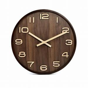 Wooden Large 14 Inch Simple Quartz Wall Clock- BFMe in