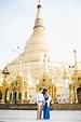 Engagement travel photo shoot Yangon | Shwedagon pagoda ...
