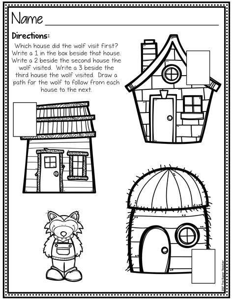 Three Little Pigs Story Elements and Story Retelling