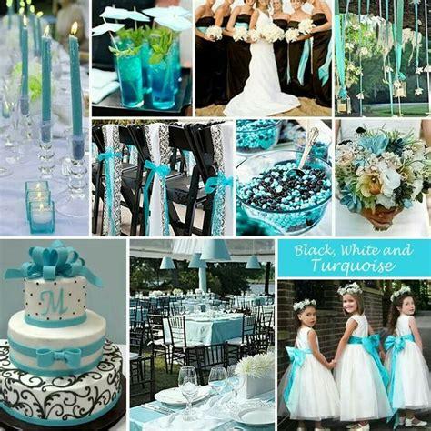black white and turquoise wedding ideas pinterest