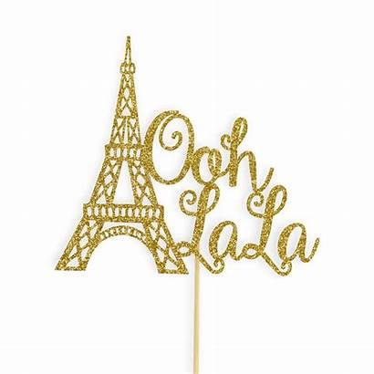 Paris Theme Ooh Cake Shower Tower Topper